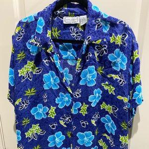 Jane Ashley Woman Hawaiian Blouse